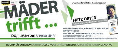 Mäder trifft... Fritz Orter: Schauplatz Krieg - ein Reporter