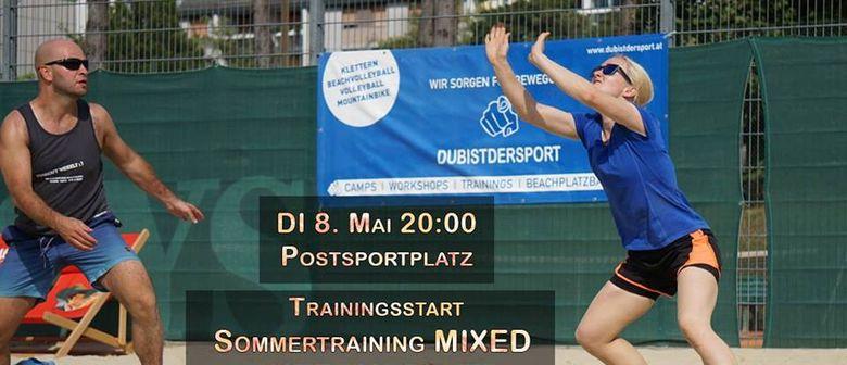 Beachvolleyball Training Mixed intermediate - DUBISTDERSPORT