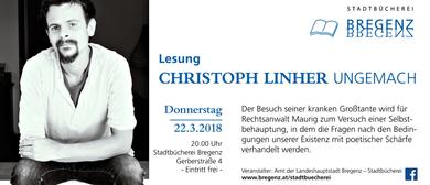 "Christoph Linher liest aus ""Ungemach"""