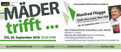 Mäder trifft... Manfred Flügge: CANCELLED