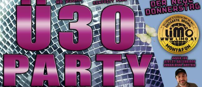 Ü30 Party mit DJ Schlumpf im LIMO: ABGESAGT