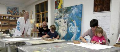 Sommerferien - Kinder malen im Atelier