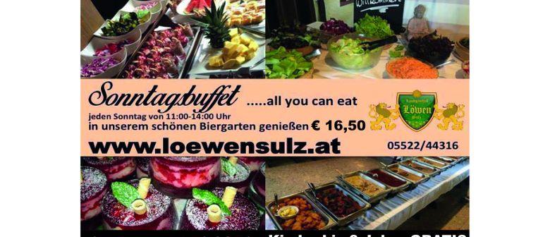 Sonntagsbuffet ...all you can eat im Löwen Sulz