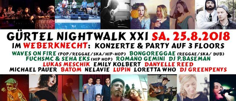 Gürtel Nightwalk XXI @ Weberknecht