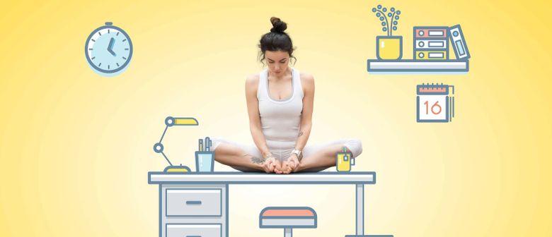 Locker im Job mit Office-Yoga