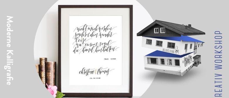 Moderne Kalligrafie Workshop mit Fingertips Calligraphy