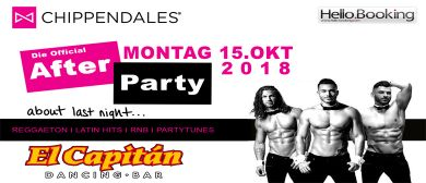 Chippendales official After Party • Mo. 15. Oktober at El