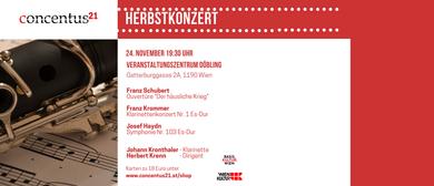 Concentus21 Herbstkonzert mit Solist Johann Kronthaler
