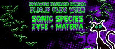 HALLOWEEN ELECTRONIC CARNIVAL mit Sonic Species, Zyce und Ma
