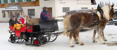 Pferdeschlittenfahrt in Damüls