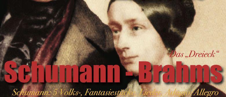 """SCHUMANN - BRAHMS  –  Das """"Dreieck"""", Lieder & Briefe"""