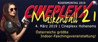 XXL Cineplexx Maskenball 21 am Rosenmontag