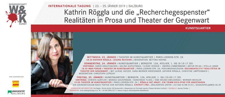 Lesung mit Kathrin Röggla ('Revision')