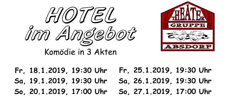 """THEATER ABSDORF 2019 - """"Hotel im Angebot"""""""