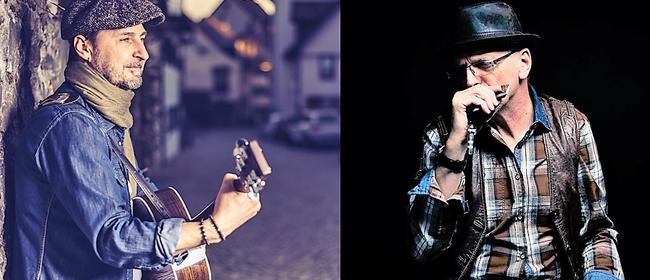 Danny on stage feat. Bluesman live zu Gast im FLAX
