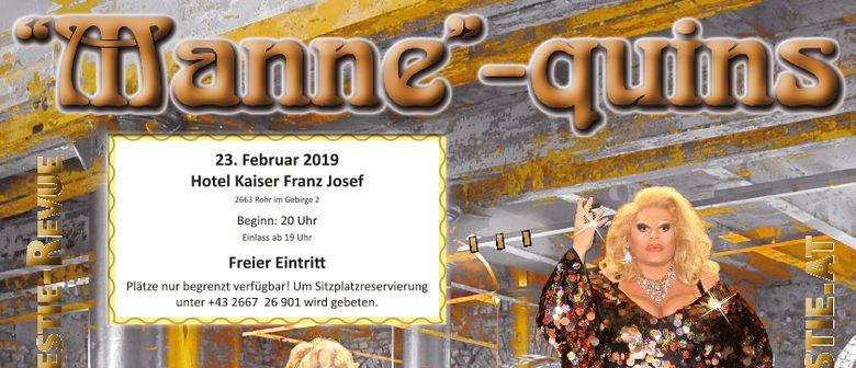 """Travestie-Revue The """"Manne""""-quins"""