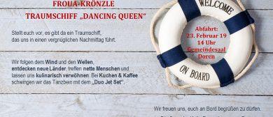 "Frauen-Faschingskränzle ""Schiff Ahoi"" in Doren"