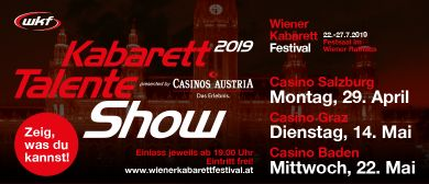 Kabarett Talente Show presented by Casinos Austria