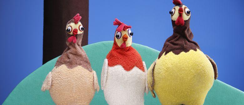 Drei Hühner legen los