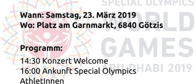 Empfang der Vorarlberger Special Olympioniken