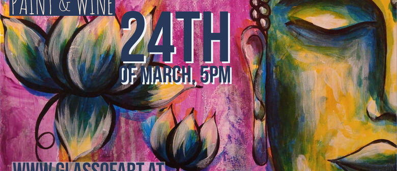 Paint & Wine by Glass of art