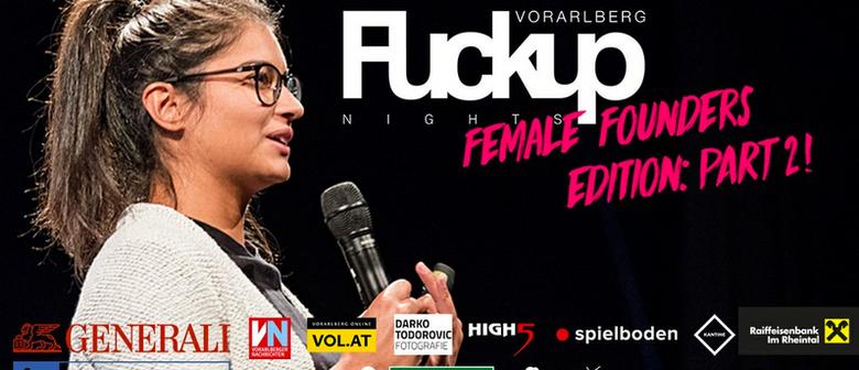 FuckUp Nights Vorarlberg // VOL. IX: Female Founders Edition
