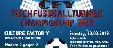 Tischfußballturnier im Jugendcafé CFY