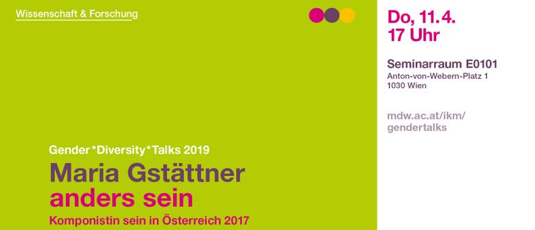 anders sein. Komponistin sein in Österreich 2017