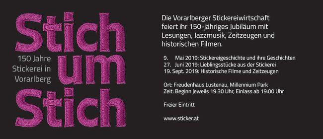 150 Jahre Vorarlberger Stickereiwirtschaft