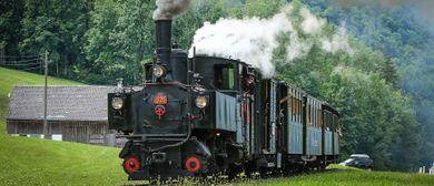 Dampfzug-Sonderfahrt beim Wälderbähnle