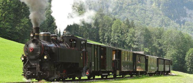 Handwerksausstellung Bezau - Dampfzüge beim Wälderbähnle