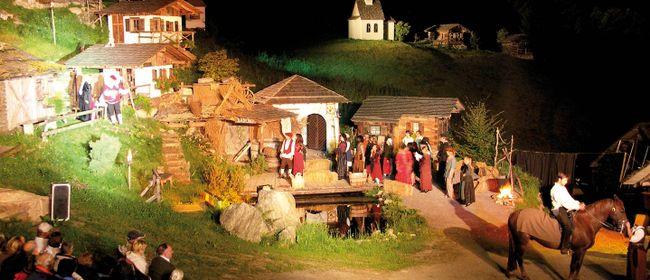 Montafoner Sagenfestspiele auf der Freilichtbühne Silbertal