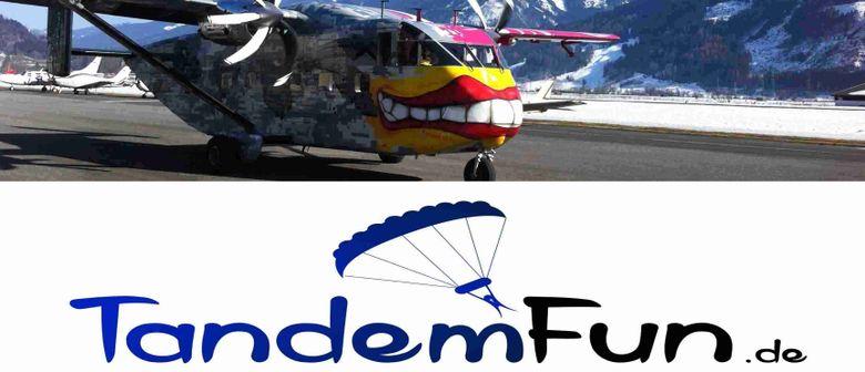 Fallschirmspringen Tandemsprung Radfeld Tirol nähe Innsbruck