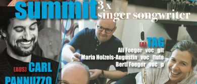 summit – 3x SingerSongwriter: PANNUZZO, CRYSTAL ON MARS, TAG