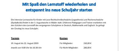 LEGA - Lernwoche 2019 - 19.08. -22.08.2019