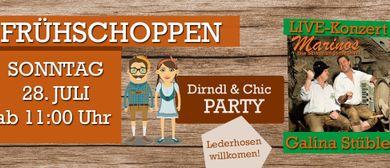 Dirndl & Chic-Party mit den zwei Marinos