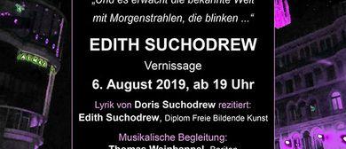 Vernissage zur Einzelausstellung. EDITH SUCHODREW