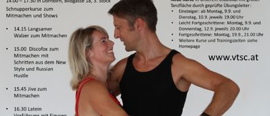 Tag der offenen Tür Tanzsportclub Casino Dornbirn am 7. Sept