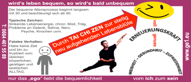 """""""TAI CHI ZEN"""" Schnupper-Abende """"Mehr als nur Gymnastik"""""""