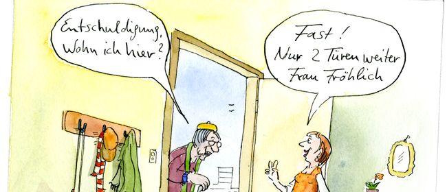 """Humor in der Pflege: Ausstellung """"DEMENSCH"""""""
