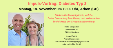 Vortrag: Diabetes Typ 2 besiegen