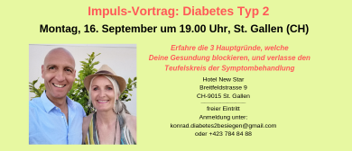 Vortrag: Diabetes Typ 2 besiegen