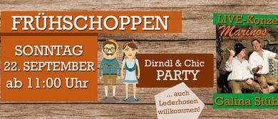 Dirndl & Chic-Party mit den zwei Marinos im Galina