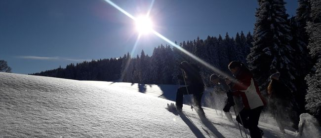 Geführte Schneeschuhwanderung durchs Naturschutzgebiet