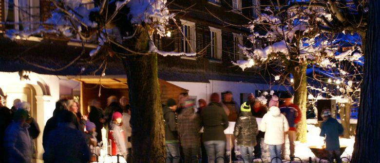 Feierliche Illuminierung des Schwarzenberger Christbaumes