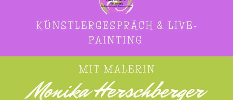 Künstlergespräch & Live Painting mit Malerin Monika Herschbe
