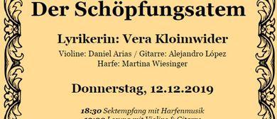 """Lesung """"Der Schöpfungsatem"""" mit Sektempfang und Musik"""