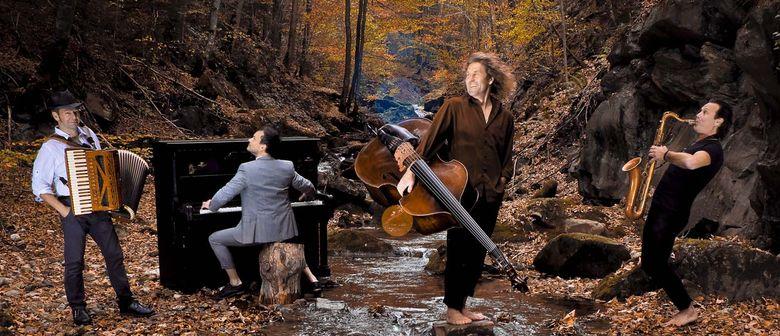 Quadro Nuevo als Quartett mit Chris Gall am Piano