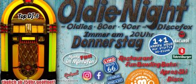 Oldie-Night jeden Donnerstag im LIMO Club Montafon: CANCELLED