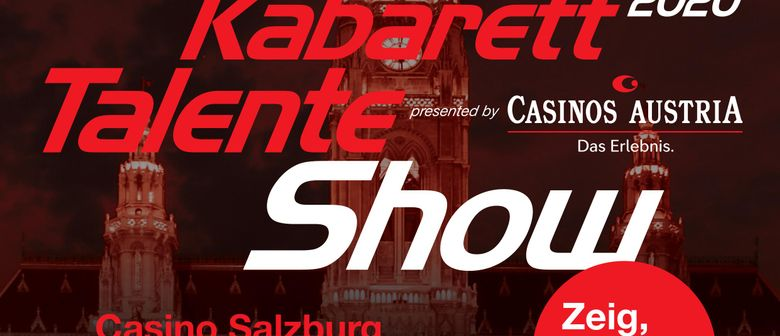 Kabarett Talente Show presented by Casinos Austria: CANCELLED